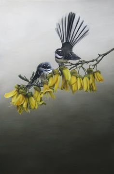 "Jane Crisps ""Home in the Kowhai"" Detail is amazing!"