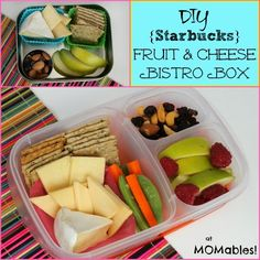 MOMables Monday - Fruit and Cheese Bistro Box