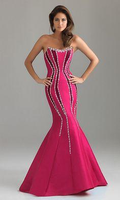 Elegant Strapless Mermaid Dress by Night Moves NM-6435
