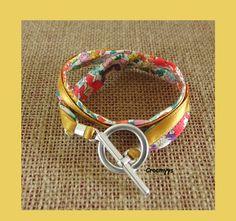Bracelet liberty michelle multicolore double tour : Bracelet par crocmyys
