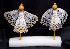 angyal Christmas Angels, Christmas Crafts, Crochet Angels, Angel Crafts, Lacemaking, Bobbin Lace, Paper Art, Origami, Crochet Earrings