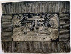 Антиминс из Фёдоровской церкви (1697), Ярославль. Антиминс используется на престоле, который обязательно подписывается епископом. На нем обязательно изображается положение Христа во гроб. Шитых антиминсов не много. Обычно используются тканевый с выбитым изображением. Антиминс маленький – 40-50см.