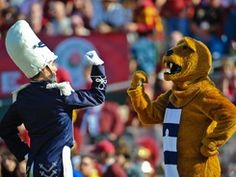 Drum Major and Nittany Lion.