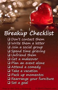 How to Get Over a Breakup. 12 Tips for Healing a Broken Heart | Lifezini Break ups is often tough to take
