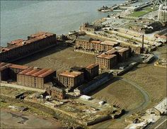 Liverpool's Albert Dock in the 1980s.