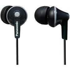 Panasonic Ergofit Earbuds Model RP-HJE125 Black