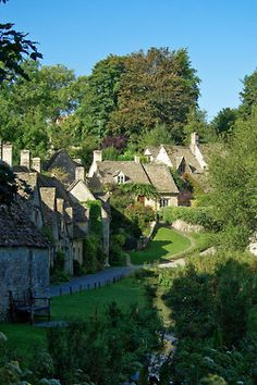 Arlington Row in Bibury, one of the most beautiful villages in Gloucestershire, England