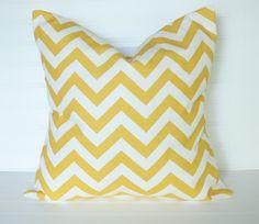 yellow & white...Zig Zag pillow