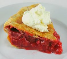 Rhubarb and Red Berry Pie