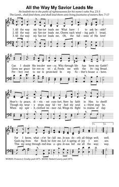 Lead me lord sheet music pdf