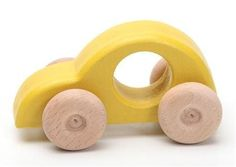 This lovely handmade wooden car for children is perfect for pushing and pulling. Promotes creative play and imagination. Measures about 13 cm long by