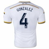 c474dcc3ab5 La Galaxy 2015-16 season Home GONZALEZ  4 Soccer Jersey Soccer Uniforms