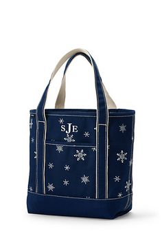 Seasonal Embroidered Tote Bag