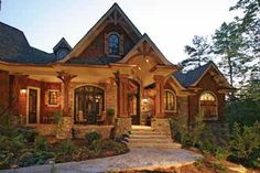 Home in the Woods (HWBDO14907) | Craftsman House Plan from BuilderHousePlans.com