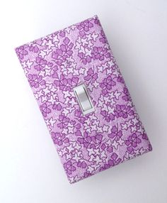 Lilac Light Switch Plate Cover / Lavender and White by SSKDesigns, $10.00