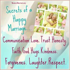 The secrets to a happy marriage are not so secret. They have nothing to do with the size of your bank account or the car you drive. Discover them here.