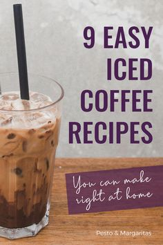 9 Easy Iced Coffee Recipes You Can Make at Home - Sort - Food - Kaffee Iced Coffee At Home, Iced Coffee Drinks, Coffee Drink Recipes, Easy Coffee, Hot Coffee, Homemade Iced Coffee, Healthy Iced Coffee, Coffee Ideas, Iced Coffee Recipe With Brewed Coffee
