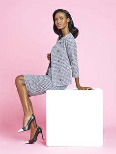 Never go wrong in Navy Crinkle Check! #Doncaster www.doncaster.com/lrholley