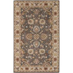 7.6X9.6, $670, hand loomed wool, india, AmazonSmile - Surya Caesar CAE-1004 Classic Hand Tufted 100% Wool Charcoal Gray