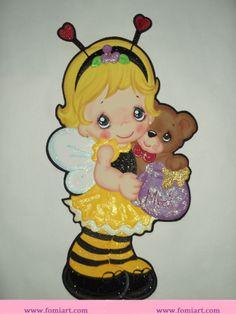 Tierna niña abejita Precious Moments, Paper Piecing, Valentine Box, Treasure Boxes, 3d Paper, Box Design, Diy Cards, Paper Dolls, Tweety