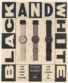 old school swatch ad