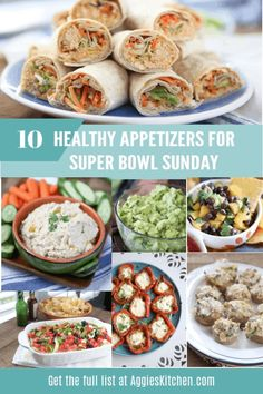 Home Made Doggy Foodstuff FAQ's And Ideas Healthy Appetizer Recipes For Super Bowl Sunday Whether You Are Entertaining Or Bringing A Dish To A Party. Recipes Include Stuffed Mushrooms, Chicken Salad Rollups, The Best Guacamole And Dips. Quick Recipes, Popular Recipes, Healthy Recipes, Healthy Appetizers, Appetizer Recipes, Party Appetizers, Healthy Superbowl Snacks, Gluten Free Puff Pastry, Super Bowl Sunday