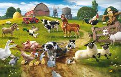 Farmyard Fun Mural mural by Walltastic