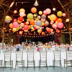 I love this with the bright colors that the bridal party wear!