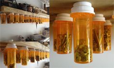 Garage Organization - Nuts, Nails, and Bolts in Pharmacy Pill Bottles