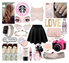 """""""Remember December"""" by qwerty-16-polyvore ❤ liked on Polyvore featuring Topshop, LE3NO, OPI, TOMS, Casetify, PBteen, Pentax, Accessorize, Viktor & Rolf and Le Specs"""