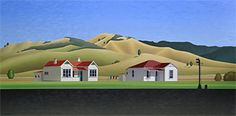 Brian Dahlberg // 'On the road to the Republic' Whangamomona #Art #Landscape #Oil #Painting #NewZealand