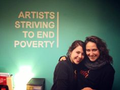 ASTEP Volunteer Artists Cessa Betancourt and Allison Gibbons made a special visit to our office after spending the past several months with our programs in India! #artseducation