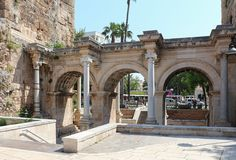La porte d'Hadrien à Antalya (Turquie)