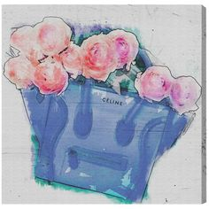 Oliver Gal Oliver Gal Oh My Tote Painting Print on Wrapped Canvas