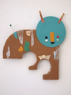 handmade collage/paper friends, couldn't be better timing, my boy is doing awesome collages at school - great DIY gifts for the season - thanks @Marianne Correa Richards!