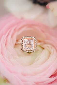 15 Stunning Rose Gold Wedding Engagement Rings that Melt Your Heart Pretty Engagement Rings, Colored Engagement Rings, Wedding Engagement, Solitaire Engagement, Pink Wedding Rings, Pink And Gold Wedding, Tan Wedding, Dream Wedding, Loft Wedding