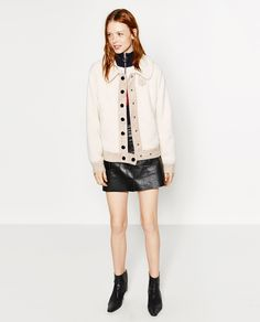Image 1 of SHORT FLEECE-STYLE JACKET from Zara