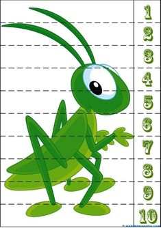 Puzzle-grillo Preschool Learning Activities, Toddler Activities, Preschool Activities, Kids Learning, Zoo Crafts, Insect Crafts, Number Puzzles, Maths Puzzles, Busy Book