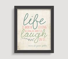 Anne of Green Gables Typography Print Quote Print by IslaysTerrace