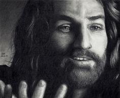 Pencil Drawings Of Jesus | Drawing of Jesus smiling