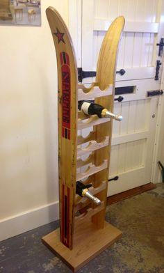 Water-ski wine rack  www.stephenson-furniture.co.uk