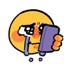 Cute Doodle Art, Cotton Candy Hair, Emoji Stickers, Cute Emoji, Emoji Faces, Funny Drawings, Mood Pics, Mothman, My Emotions