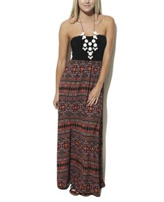 Sweetheart Aztec 2fer Maxi Dress from Wet Seal
