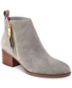b0e7112448d TOMMY HILFIGER REIZ ANKLE BOOTIES WOMEN S SHOES.  tommyhilfiger  shoes    Grey Ankle Boots