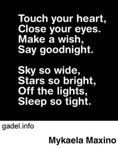 Cute goodnight poem