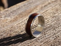 Bentwood Ring with Silver Lining by BojtStudio on Etsy, $150.00