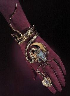 Snake band, ca. 1899  gold, diamonds, opals , rubies, and enamel |  Georges Fouquet and Alphonse Mucha  | Alphonse Mucha Museum, Sakai City, Japan