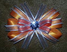 Orange & white bow