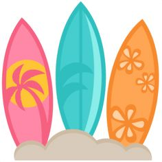 Surfboards SVG scrapbook cut file cute clipart files for silhouette cricut pazzles free svgs free svg cuts cute cut files Beach Clipart, Summer Clipart, Cute Clipart, Thema Hawaii, Clip Art, Luau Party, Love Images, Silhouette Design, Painted Rocks