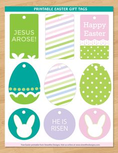 Free printable easter gift tags free printable easter and pastels freebie friday 19 free easter printables negle Choice Image